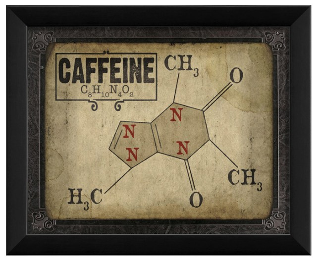 Caffeine Molecule sign by Artwork Enclosed