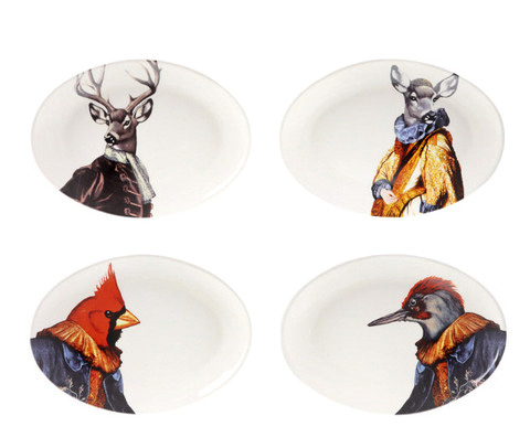 Waiting On Martha whimsical animal plates