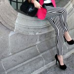 How the Internet Wears: Black and White Striped Pants