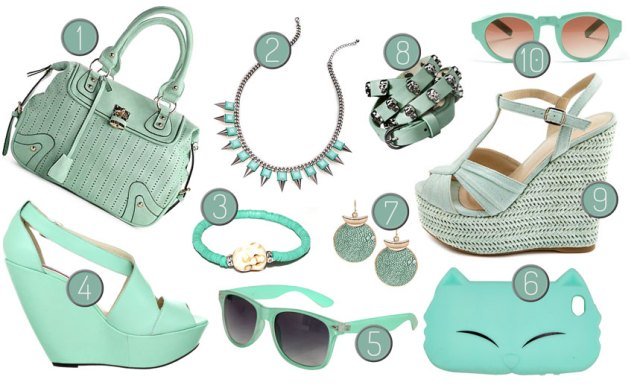 Mint Green Accessories