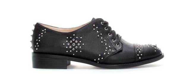 ZARA Studded-Blocher-Oxfords
