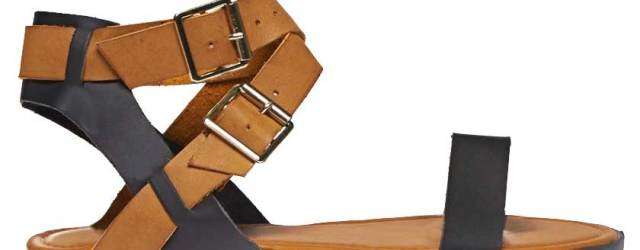 Best Minimalist Sandals: Two Tone Cross Strap Sandals