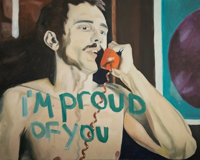 """I'm Proud of You"" by James Franco. Photo courtesy of www.dazeddigital.com"