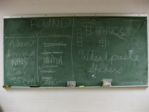the board before the tournament