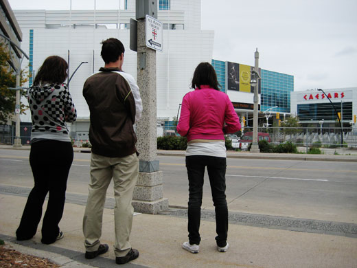 Broken City Lab imagining what to do with the backside of Ceasar's, blocking the former view of the Detroit River in Windsor, Ontario