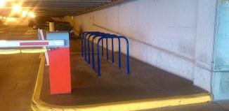 Bike parking inside a garage (Photo courtesy Metro Lou)