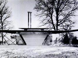 Bruce Goff's Irma Bartman Residence, aka Triaero (Courtesy Goff Archives, Art Institute of Chicago)