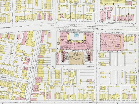 Historic urban fabric of the Philip Morris site. (Via KYVL)
