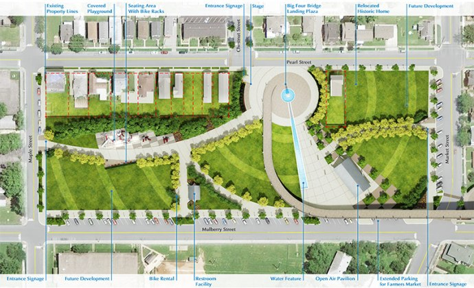 Big Four Station site plan showing space for future development. (Courtesy The Estopinal Group)
