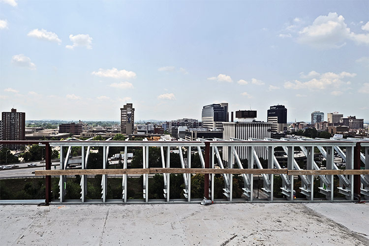 View south from the new building's rooftop. (Courtesy U of L)