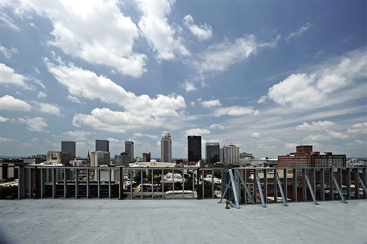 View west from the new building's rooftop. (Courtesy U of L)