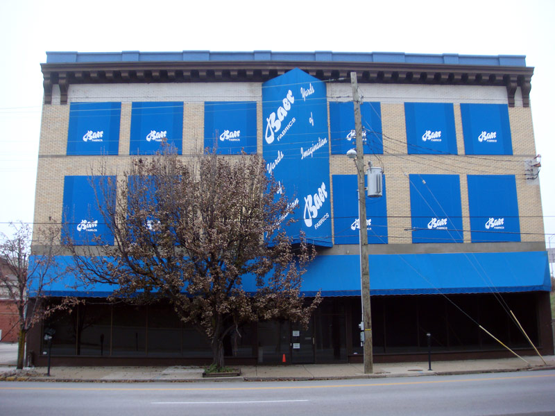 The Baer Fabrics Building is slated for demolition. (Branden Klayko)