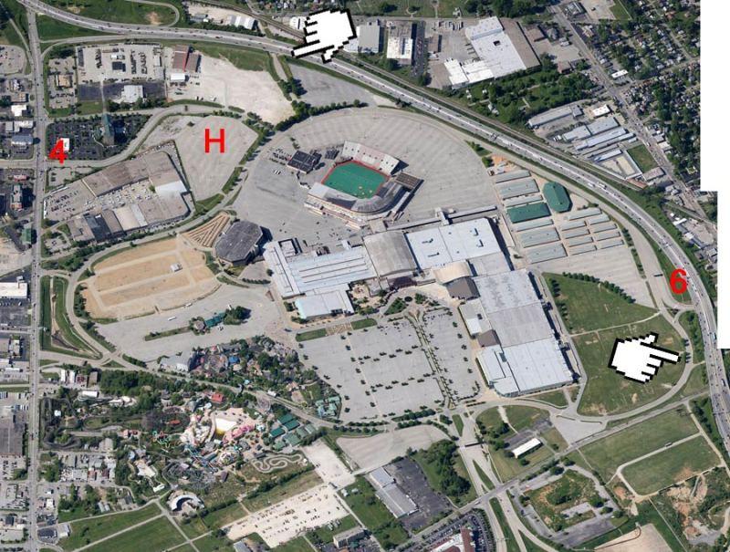 Aerial view of the Kentucky Fair & Exposition Center. (Courtesy Google)