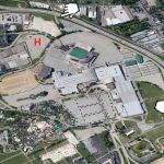 Aerial view of the Kentucky Fair & Exposition Center. (Courtesy Google)