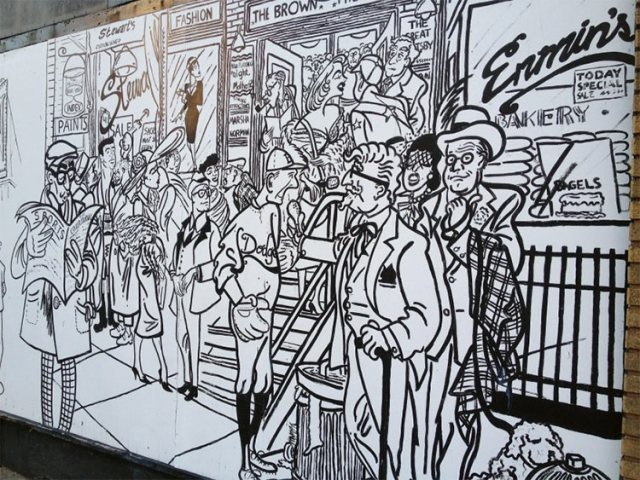 Mural on parking garage to be demolished. (Courtesy Tipster)