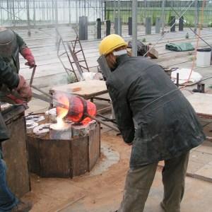 Bronsgieten in Beers