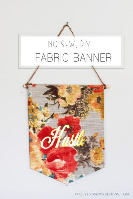 No Sew DIY Fabric Banner