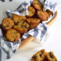 blueberry zucchini oat muffins