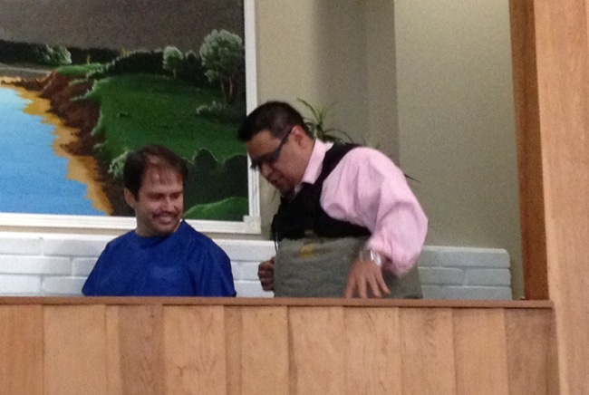 Andy Chavarrilla baptizes stepfather