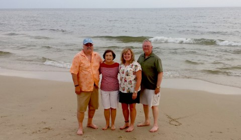 Mike and Mary Hughes with Jim and Janet Akins