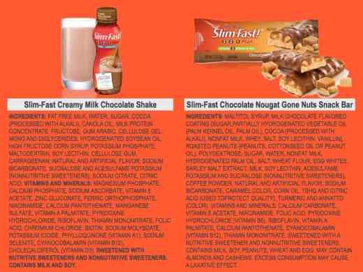 Slim Fast Ingredients