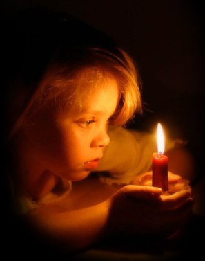 Girl with Candle two