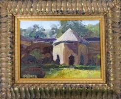 2016-40-art-landscapes-stebner-Cistercean Shadows, Thoronet-framed