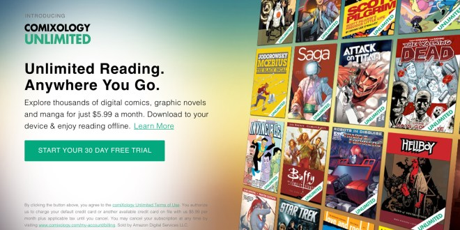 ComiXology launches all-you-can-read service