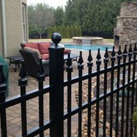 Traditional English Aluminum Fence Residential