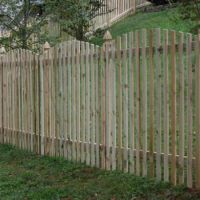 Charleston Natural Wood Picket Fence