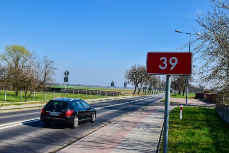 ścieżka rowerowa michałowice Lubsza DK 39