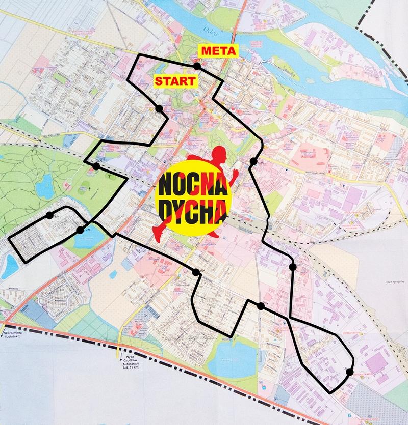 trasa II nocna dycha w Brzegu