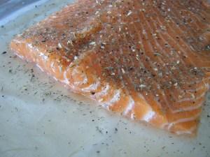 Sea Salt Honey Salmon   bsinthekitchen.com