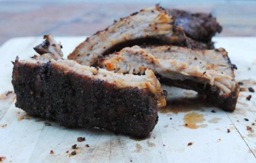 Coffee Rubbed Pork Ribs   bsinthekitchen.com