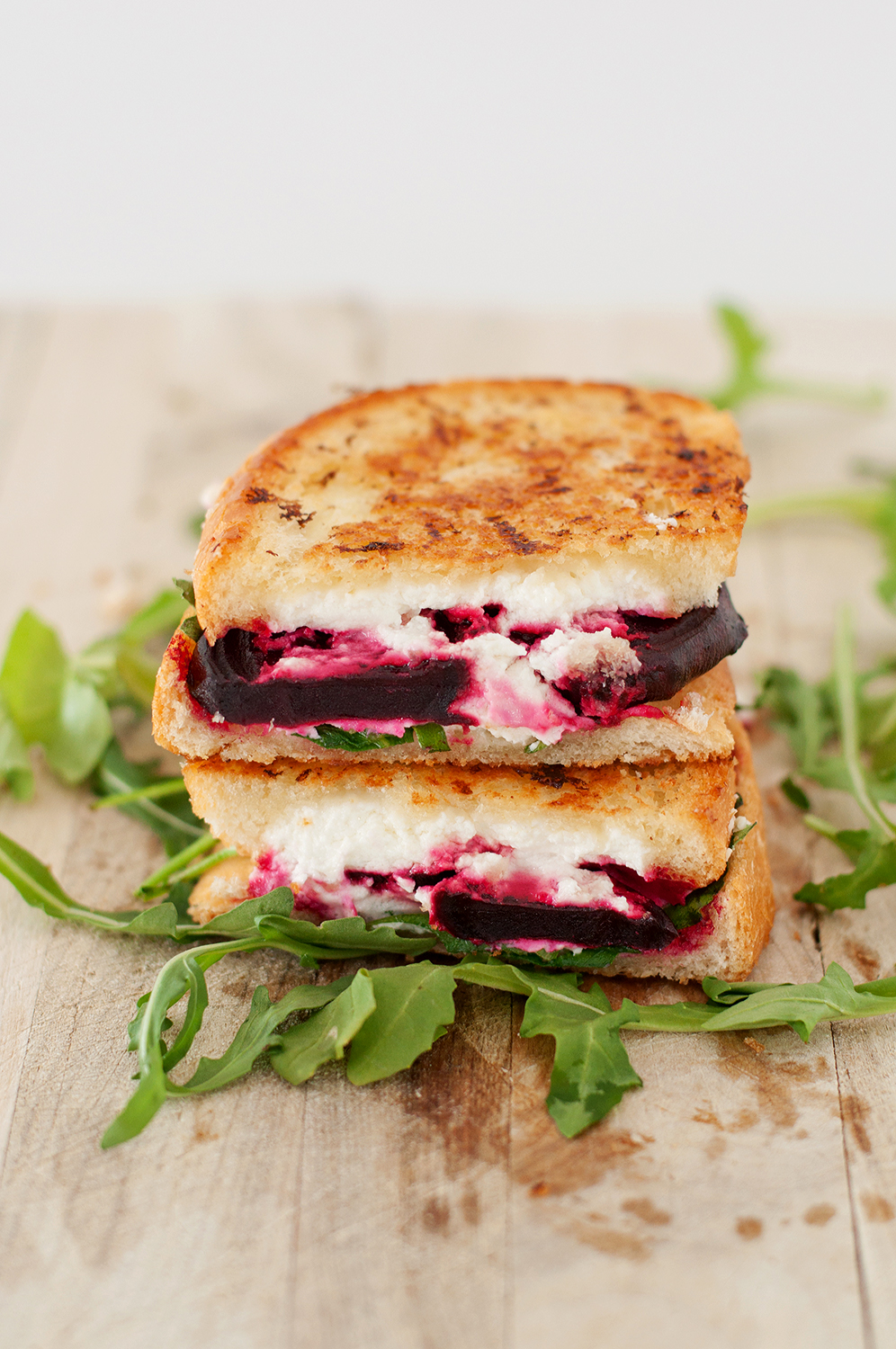 Beet, Goat Cheese & Arugula Grilled Cheese | bsinthekitchen.com #Beet ...