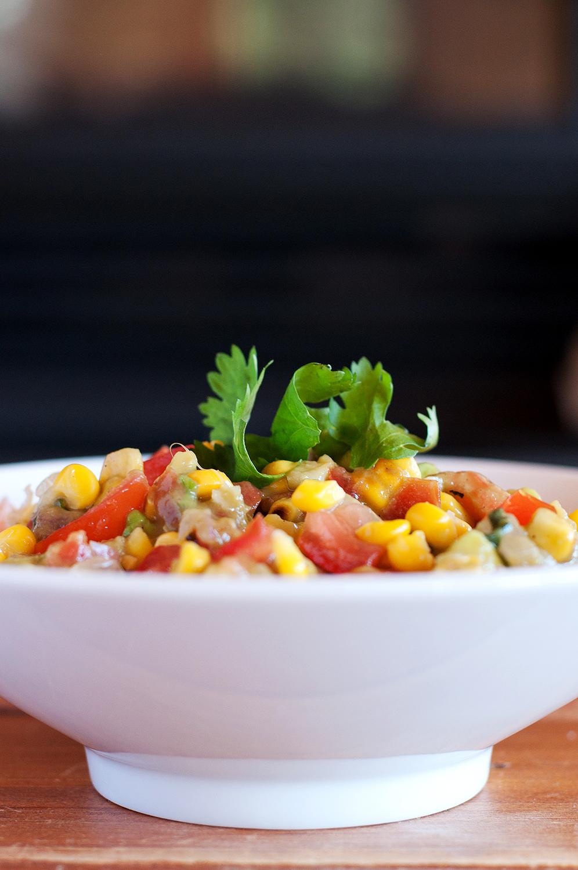 Roasted Corn Guacamole | Via @BSintheKitchen