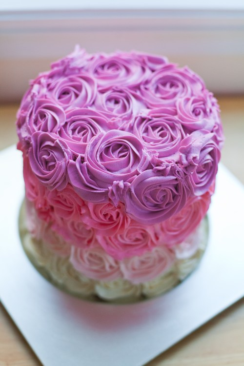 Birthday Cake With Hot Pink Butter Icing
