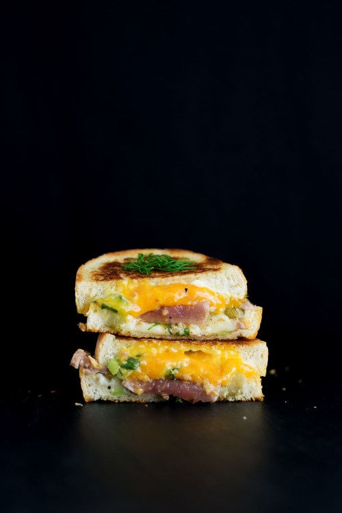 The Seared Tuna Melt Grilled Cheese | bsinthekitchen.com #grilledcheese #tuna #bsinthekitchen