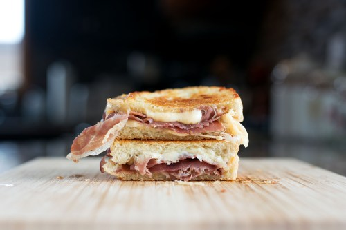 Prosciutto & Gouda Grilled Cheese | BS' in the Kitchen