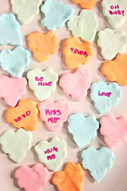 Homemade Conversation Hearts