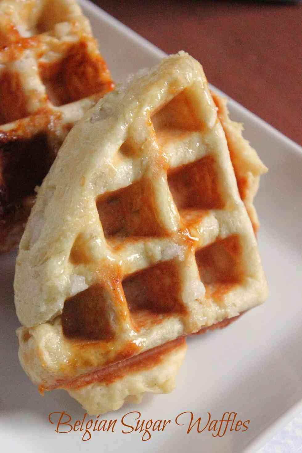"""Liege"" Belgian Sugar Waffles"