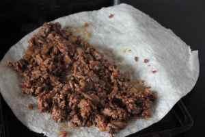 Here is half of burger mixture