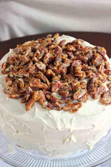 Pecan Praline Cake - Brown Sugar