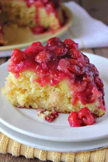 Cherry Pineapple Upside Downcake