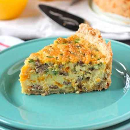 Wasy Breakfast Sausage and Cheddar Quiche