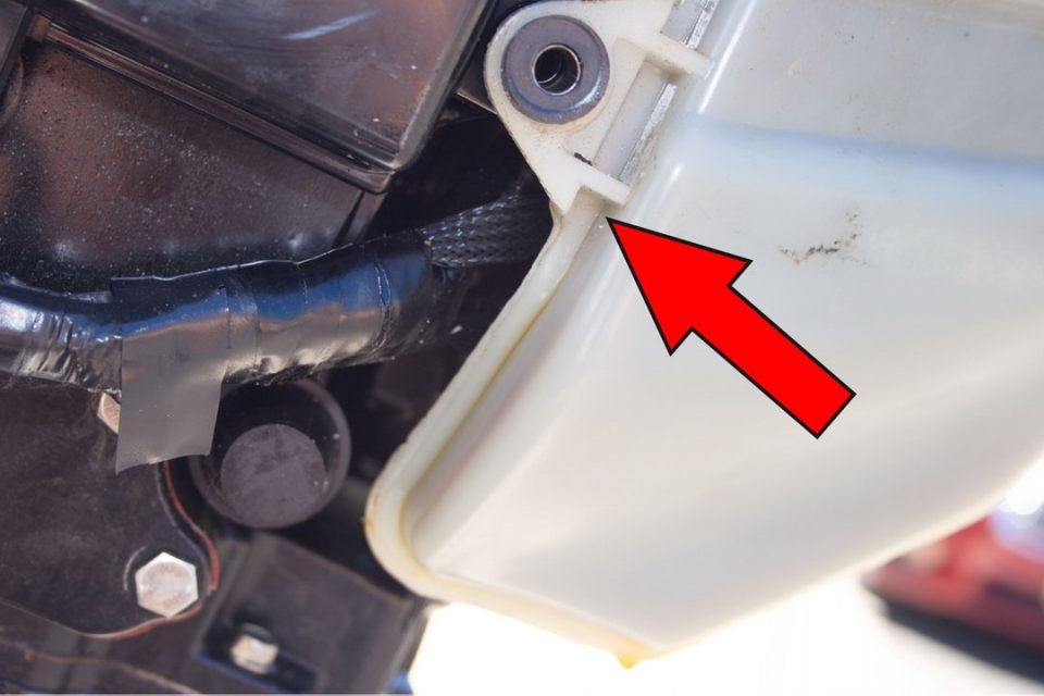 The culprit...a tiny crack