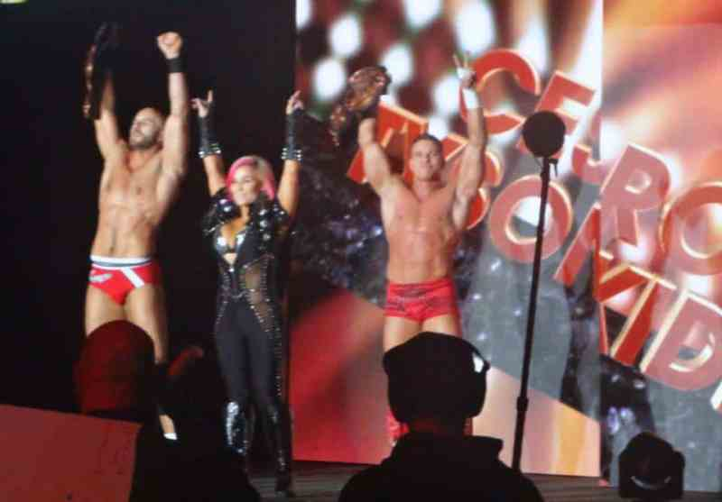 Tyson Kid and Cesaro W/ Natalya WWE Live in the UK Manchester
