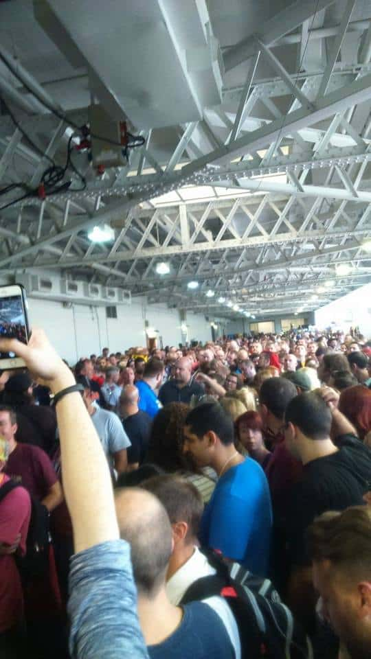 Crazy queues at London Film and Comic Con