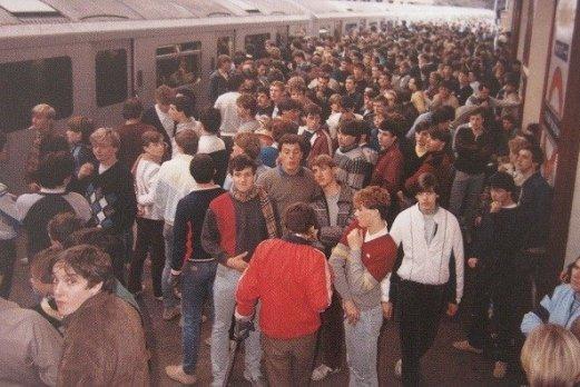 Casuals on platform