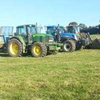 tractors lined up